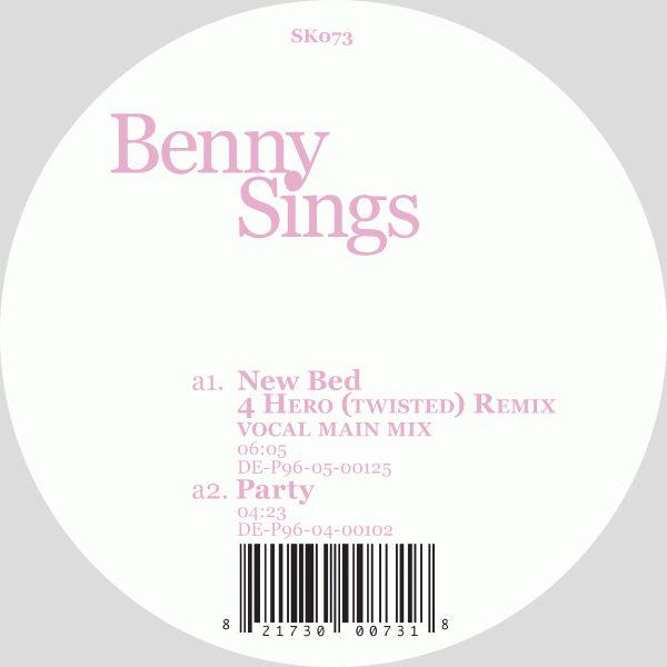 """BENNY SINGS / ベニー・シングス / NEW BED (12"""")"""