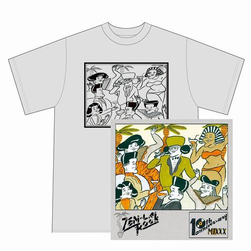 ZEN-LA-ROCK / 10th ANNIVERSARY MIXXX★ディスクユニオン限定T-SHIRTS付セットSサイズ
