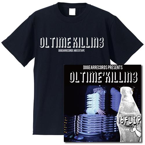 "16FLIP (MONJU,DJ KILLWHEEL) / 16フリップ / OL'TIME KILLIN' vol.3 ★ユニオン限定T-SHIRTS付セット""ネイビー""Lサイズ"