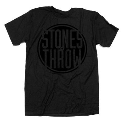 Stones Throw T-Shirt / ストーンズ・スロウ Tシャツ / CLASSIC LOGO BLACK SIZE L
