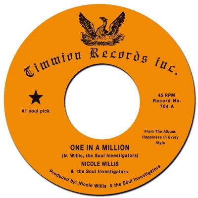 """NICOLE WILLIS & THE SOUL INVESTIGATORS / ニコル・ウィリス& ソウル・インヴェスティゲイターズ / ONE IN A MILLION (7"""")"""