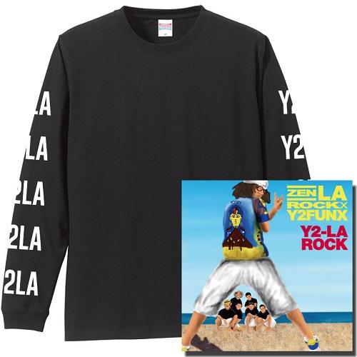 "ZEN-LA-ROCK / Y2-LA-ROCK★ディスクユニオン限定ロングスリーブTシャツ付セット""BLACK""Lサイズ"