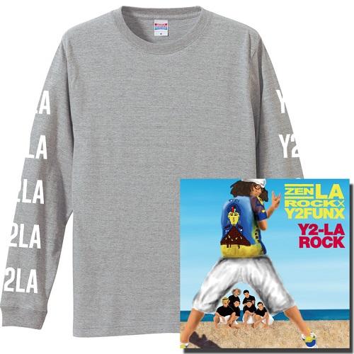 "ZEN-LA-ROCK / Y2-LA-ROCK★ディスクユニオン限定ロングスリーブTシャツ付セット""GRAY""Mサイズ"