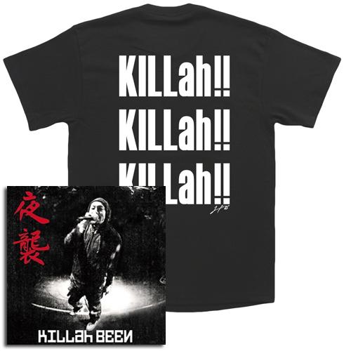 KILLah BEEN / キラー・ビーン / 夜襲★ディスクユニオン限定T-SHIRTS付セットLサイズ