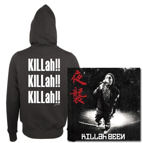 KILLah BEEN / キラー・ビーン / 夜襲★ディスクユニオン限定パーカー付セットSサイズ