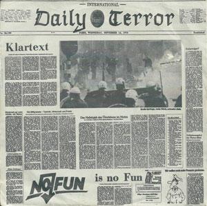 "DAILY TERROR / デイリーテラー / KLARTEXT (7"")"