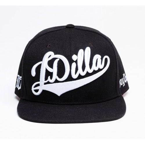 J DILLA aka JAY DEE / ジェイディラ ジェイディー / SNAPBACK HAT (WHITE ON BLACK)