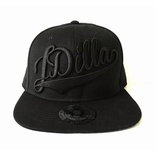 J DILLA aka JAY DEE / ジェイディラ ジェイディー / SNAPBACK HAT (BLACK ON BLACK)