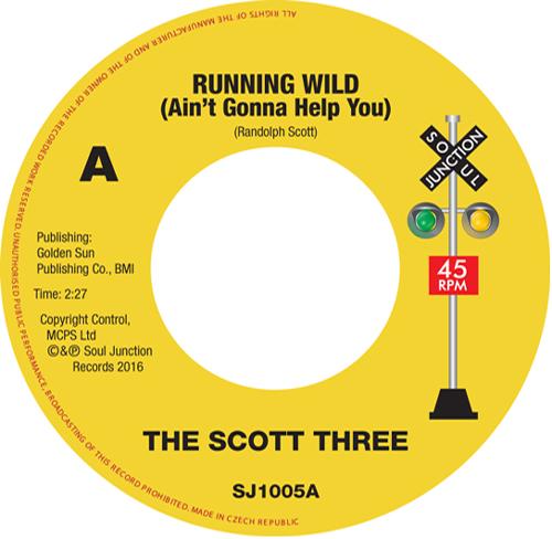 """SCOTT THREE / スコット・スリー / RUNNING WILD / GOTTA FIND A NEW LOVE (7"""")"""
