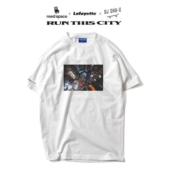 "Reed Space x Lafayette x DJ Shu-G / RUN THIS CITY TEE ""WHITE"" Size: M"