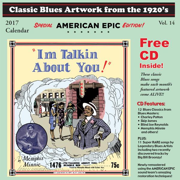 blues calendar 2017 classic blues artwork from the 1920 s calendar