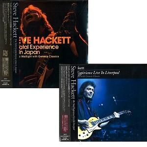 STEVE HACKETT / スティーヴ・ハケット / スティーヴ・ハケット『ザ・トータル・エクスペリエンス-ライヴ・イン・ジャパン 2016』『~ -ライヴ・イン・リヴァプール 2015』まとめ買いセット