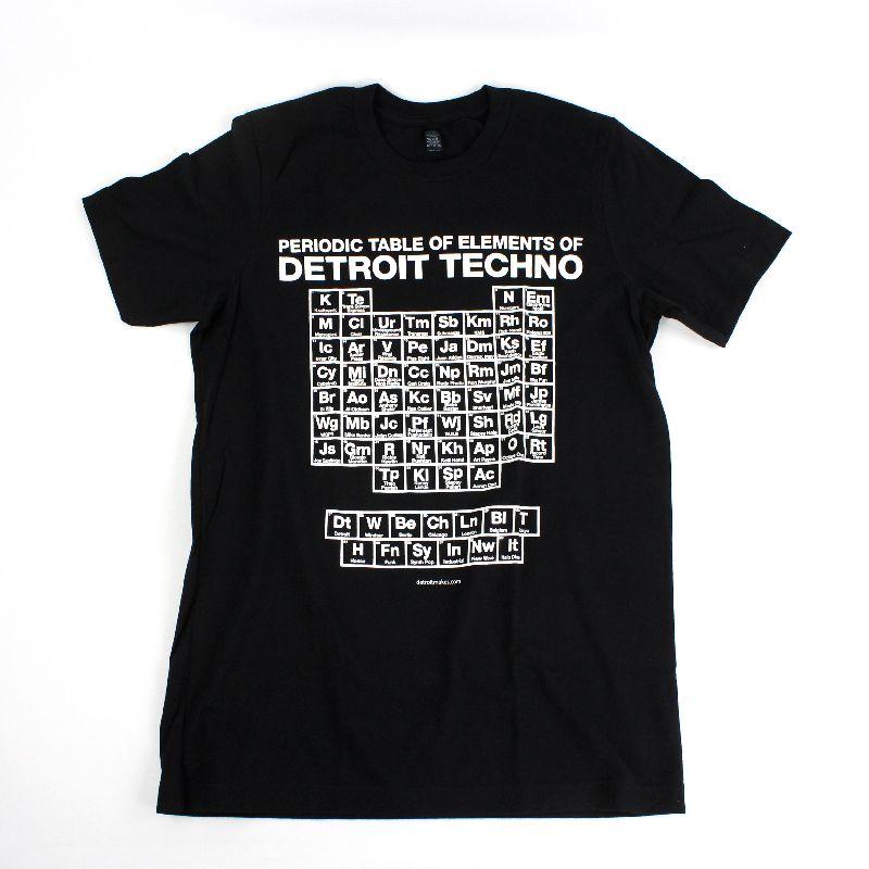 detroit makes periodic table of elements black t shirt size l