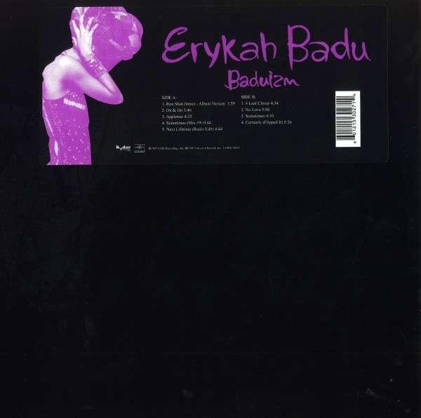 ERYKAH BADU / エリカ・バドゥ / BADUIZM アナログLP 通常盤